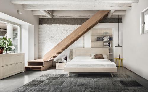 Scandola - camera da letto Maestrale in legno colore bianco