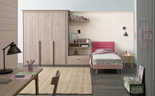 Scandola - camera letto singolo Maestrale in legno