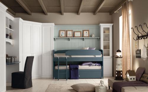 Scandola - camera ragazzi 2 letti armadio in legno
